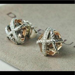 David Yurman Morganite Wrap Earrings